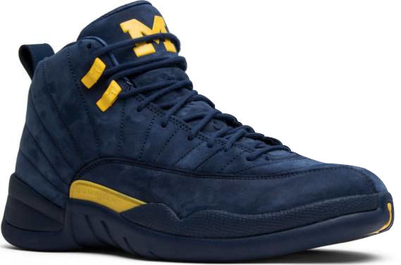 University Of Michigan Blue Jordan Sneakers