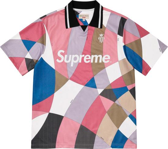 Spreme X Emilio Pucci Pastel Colornblock Soccer Jersey