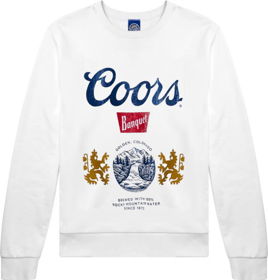 Urban Outfitters White Coors Banquet Sweatshirt