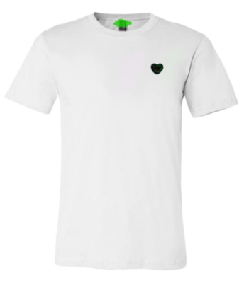 Ushkay Green Embroidered Heart T Shirt Worn By Famous Dex In Rich The Kids The World Is Yours 2 Music Video