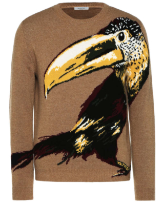 Valentino Brown Toucan Sweater Worn By Gucci Mane