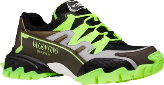 Valentino Brown Yellow And Black Sneakers