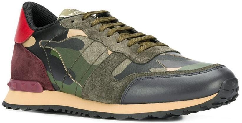 Valentino Camo Rock Runner Sneakers