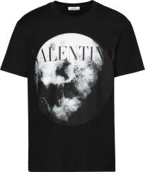 Moon Print Black T-Shirt