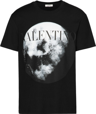 Valentino Moon Print Black T Shirt
