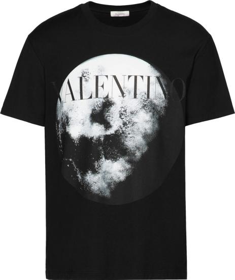 Valentino Moon Print Black T Shirt