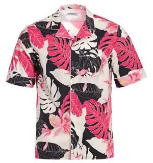 Valentino Pink Hawaiian Shirt