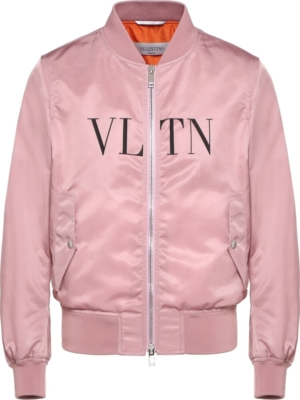Valentino Pink Satin Bomber Jacket
