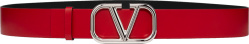 Valentino Red And Silver Tone Vlogo Belt Vy0t0q87snpju5