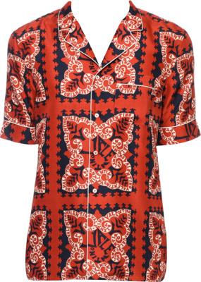 Valentino Red Bandana Print Shirt
