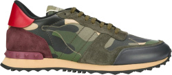 Valentino Red Green Rock Runner Sneakers