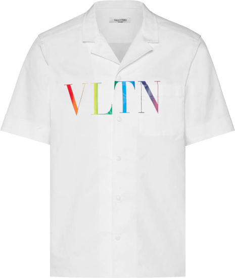 Valentino White And Rainbow Vltn Shirt