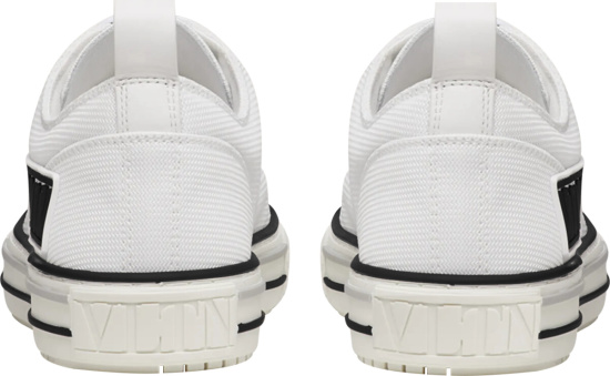 Valentino White Canvas Giggies Low Top Sneakers