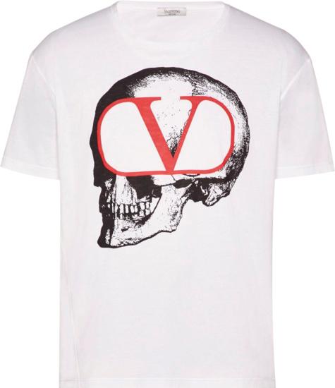 Valentino X Undercover Skull Print T Shirt