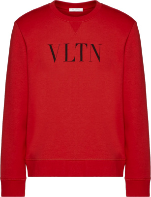 Valention Red Vltn Print Sweatshirt