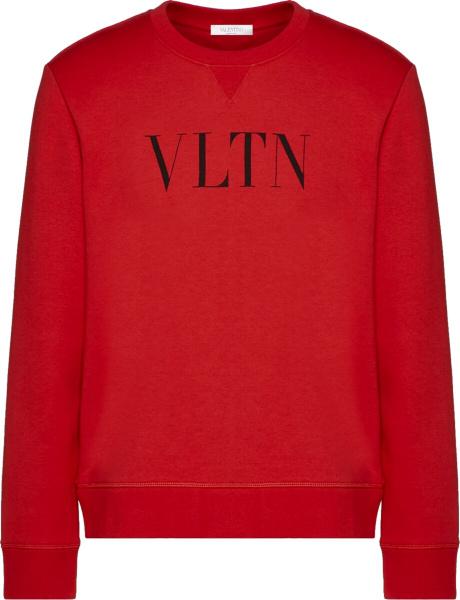 Valention Red Vltn Print Sweatshirt