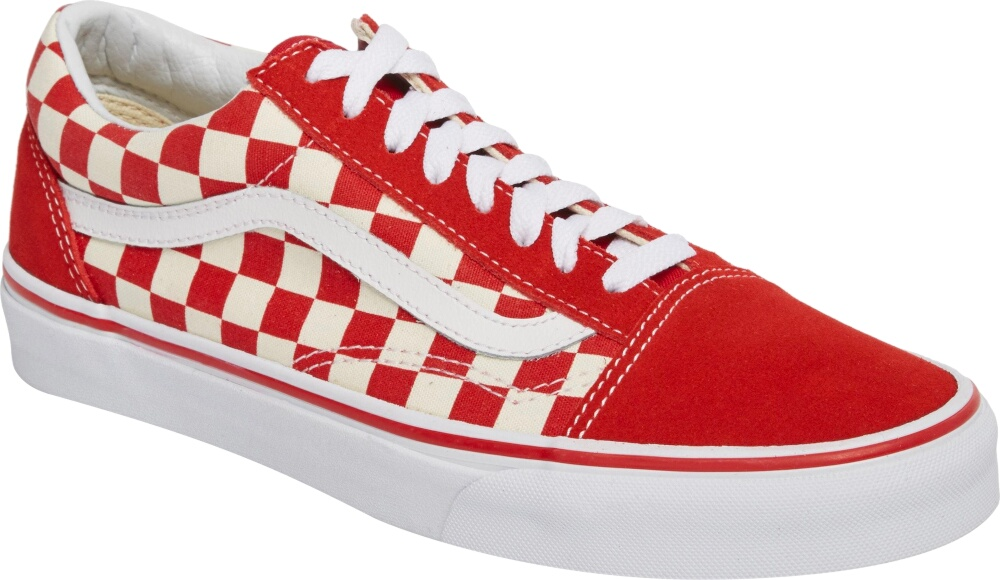 Vans Old Skool Skate Red Check Sneakers