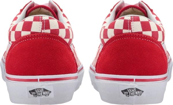 Vans Red Check Old Skool Skate Sneakers