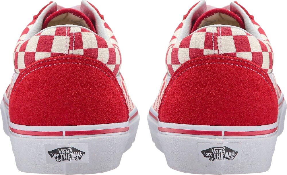 Red Check Old Skool Skate Shoe