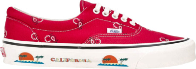 Vans Red Paisley Sneakers
