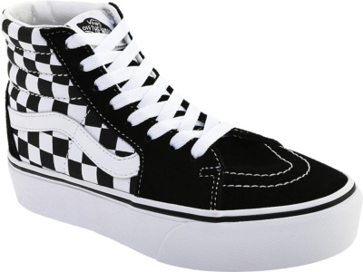 Vans Sk8 Hi Black Checkboard Platform