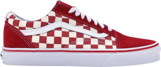 Vans Old Skool Low 'Red Checkerboard