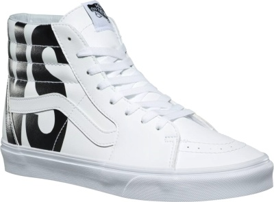 Vans White Tumble Sk8 Hi Sneakers