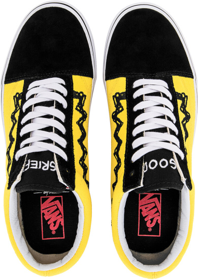 Vans X Charlie Brown Black Yellow Low Sneakers
