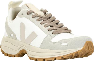 Vega White And Grey Paneled Hiking Sneakers