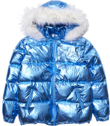 Vengeance78 Metallic Blue Vengeance Of Cincy Puffer Jacket