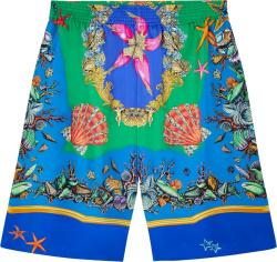 Verace Blue And Green Tresor De La Mer Shorts A86432 1f01176 5x000