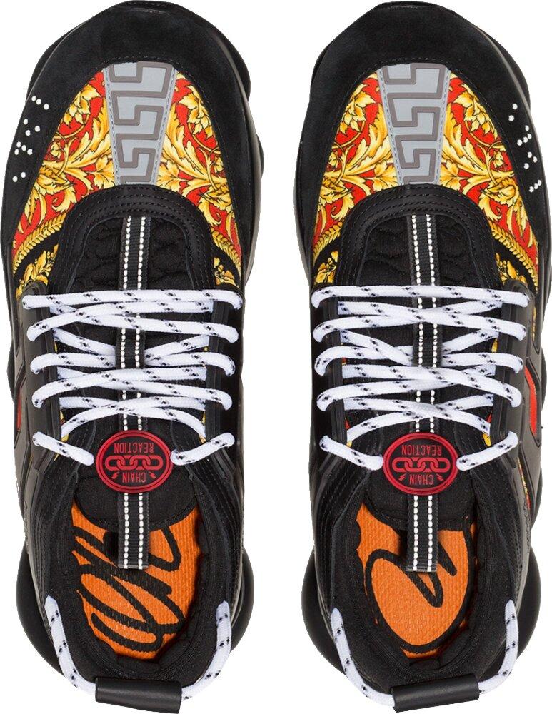 Black & Baroque Print 'Chain Reaction' Sneakers