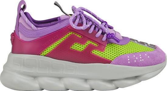 purple versace shoes