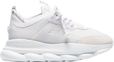 Versace All White Chain Reaction Sneakers