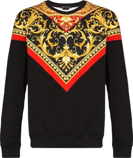 Versace Baroque Print Black Sweatshirt