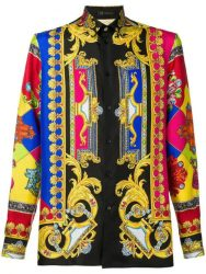 Versace Baroque Print Shirt Worn By Kodak Black In Instagram Post