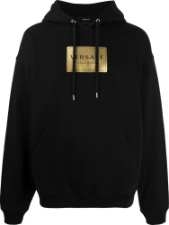 Versace Black Address Plate Hoodie
