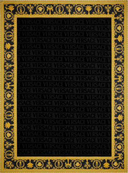 Versace Black And Gold I Heart Baroque Towel