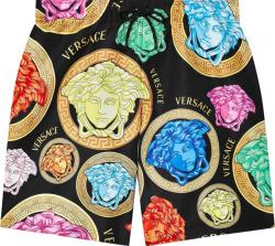 Versace Black And Multicolor Amplifed Medusa Swim Shorts