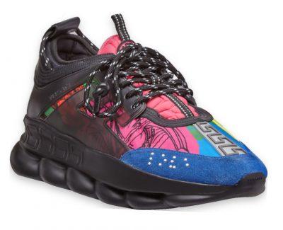 Versace Black And Multicolor Chain Reaction Sneakers Worn By Kodak Black