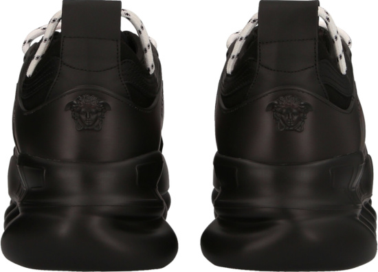 Versace Black And Red Baroque Print Chain Reaction Sneakers