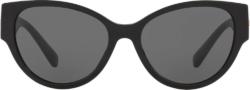 Medusa Medallion Black Cat Eye Sunglasses
