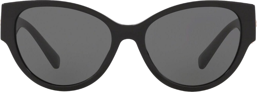 Medusa Medallion Black Cat Eye Sunglasses