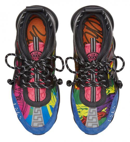 Versace Black \u0026 Multicolor Print 'Chain
