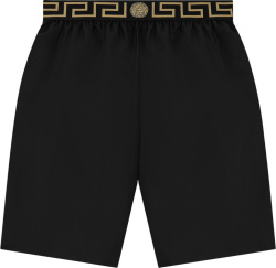 Versace Black Greca Border Swim Shorts