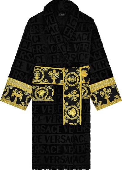 Versace Black I Love Baroque Bath Robe