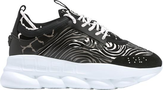 Versace Zebra Print 'Chain Reaction