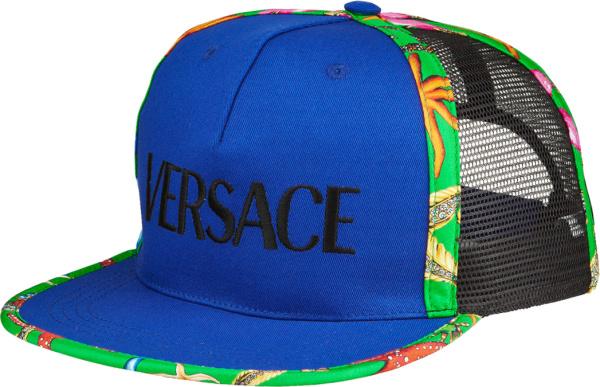 Versace Blue And Starfish Trim Trucker Hat