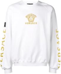 Versace Gold Medussa Embroidered White Sweatshirt