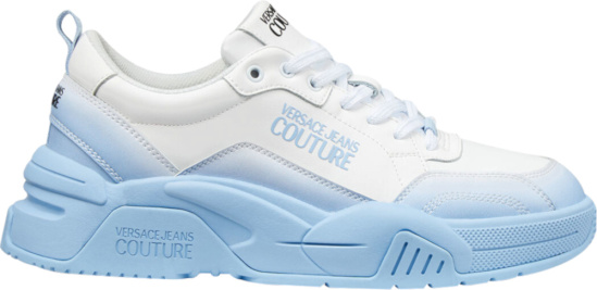 Versace Jeans Couture White And Light Blue Stargaze Sneakers